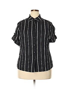 R.Q.T Short Sleeve Blouse Size 1X (Plus)