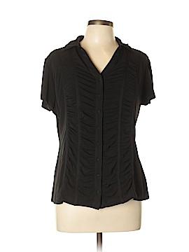 DressBarn Short Sleeve Blouse Size XL