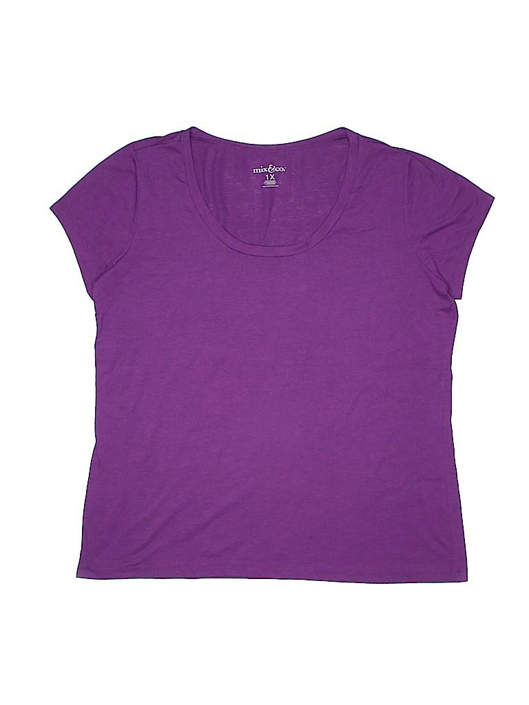 Mix & CO Women Short Sleeve T-Shirt Size 1X (Plus)