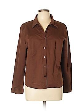 Hannah Long Sleeve Button-Down Shirt Size XL