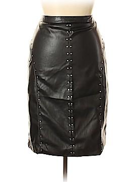 Worthington Faux Leather Skirt Size 14