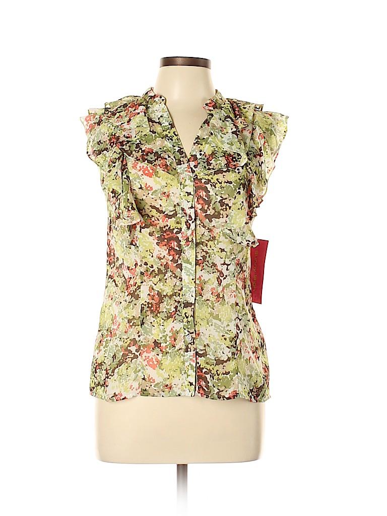 Sunny Leigh Women Short Sleeve Blouse Size L