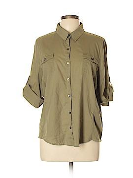 Covington 3/4 Sleeve Button-Down Shirt Size XL (Petite)