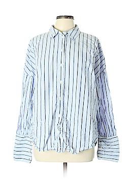 Tibi Long Sleeve Button-Down Shirt Size L