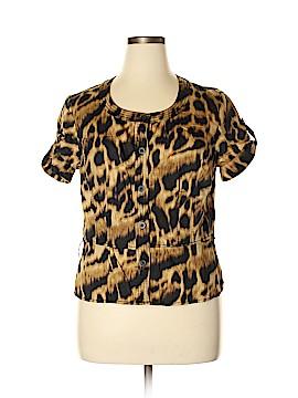 Jones New York Signature Short Sleeve Button-Down Shirt Size XL