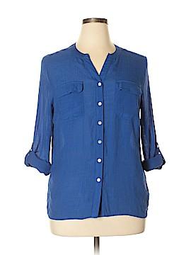 Kim Rogers Long Sleeve Blouse Size XL (Petite)