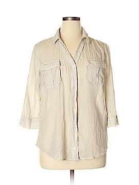 A.n.a. A New Approach 3/4 Sleeve Button-Down Shirt Size XL