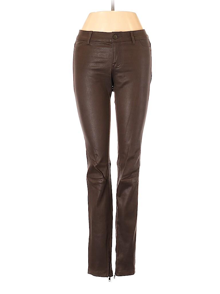 Vince. Women Leather Pants Size 2