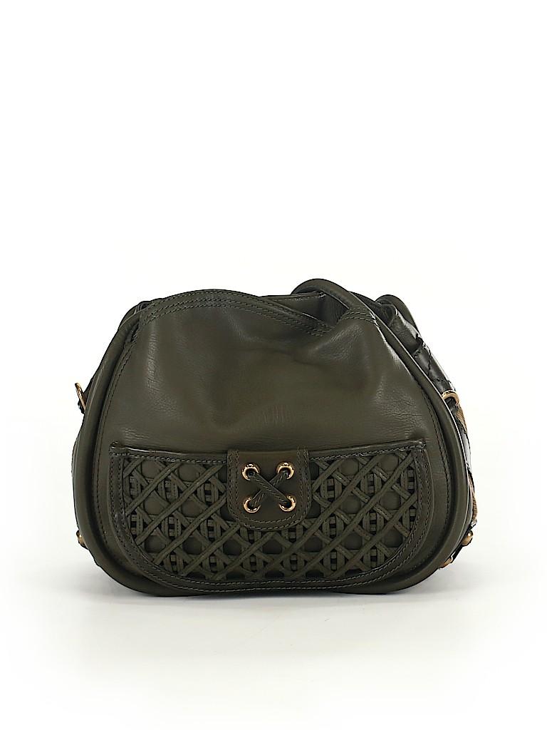 226de74cee62 Christian Dior 100% Leather Solid Dark Green Leather Shoulder Bag ...