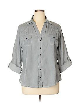 Love Potion 3/4 Sleeve Button-Down Shirt Size XL