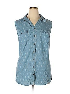 Style&Co Sleeveless Button-Down Shirt Size 3X (Plus)