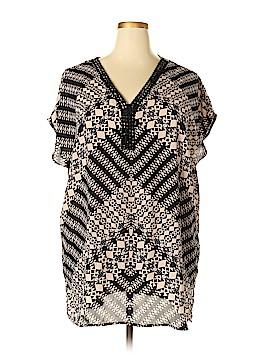Ava & Viv Short Sleeve Blouse Size 3X (Plus)