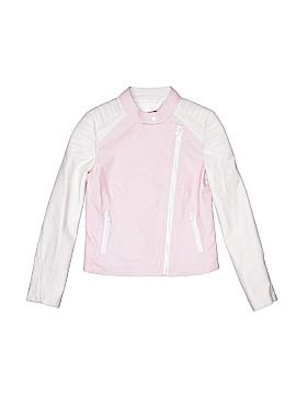 Aqua Faux Leather Jacket Size S