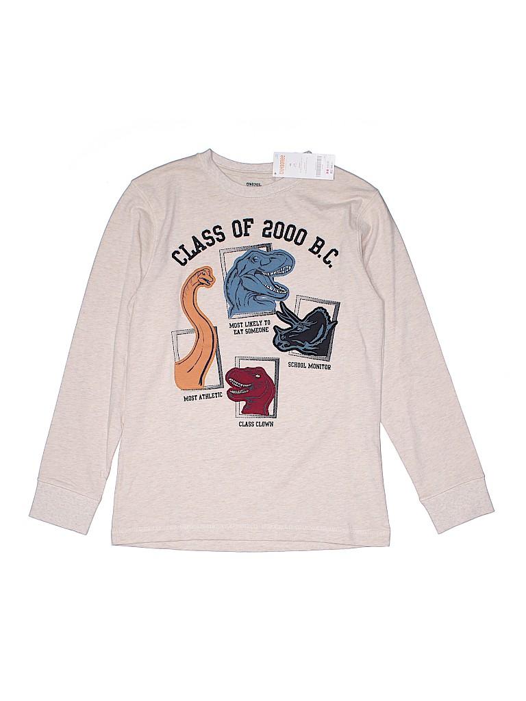 c49e0bc02a Gymboree 100% Cotton Graphic Beige Long Sleeve T-Shirt Size 10 - 42 ...