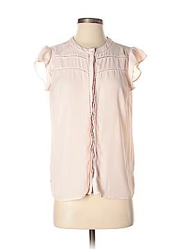 Maison Jules Short Sleeve Blouse Size M