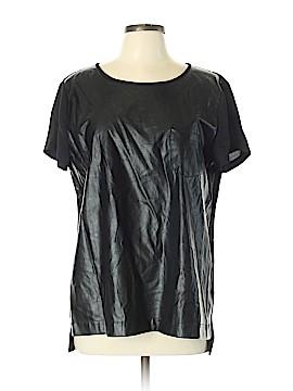 J. Crew Factory Store Faux Leather Top Size L