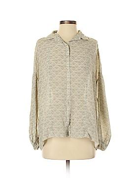 Bella Luxx Long Sleeve Silk Top Size S