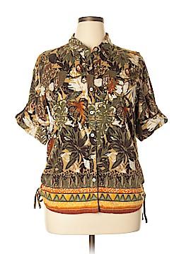 Erika 3/4 Sleeve Button-Down Shirt Size XL (Petite)
