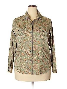 Liz Claiborne Long Sleeve Button-Down Shirt Size 1X (Plus)