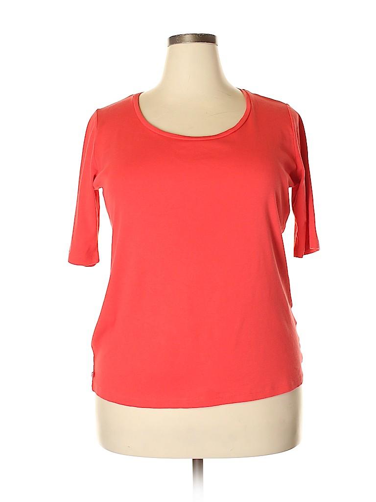 Jones New York Women Short Sleeve T-Shirt Size 1X (Plus)