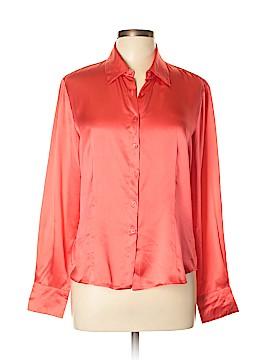 Robbie Bee Long Sleeve Silk Top Size L