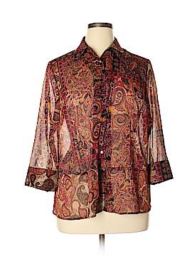 Studio by Liz Claiborne 3/4 Sleeve Blouse Size 14W