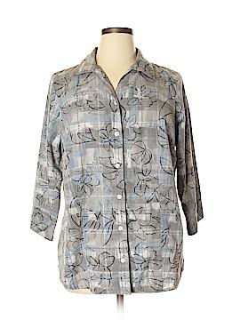 Kim Rogers 3/4 Sleeve Button-Down Shirt Size 16W