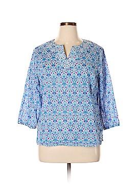 Talbots 3/4 Sleeve Blouse Size XL
