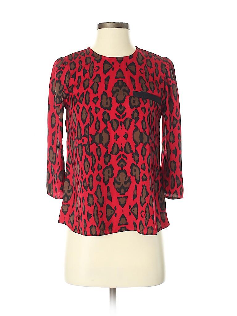DV by Dolce Vita Women 3/4 Sleeve Blouse Size XS