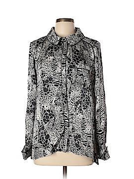 Calypso St. Barth Long Sleeve Silk Top Size L