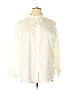 Jessica London Long Sleeve Button-Down Shirt Size 20 (Plus)
