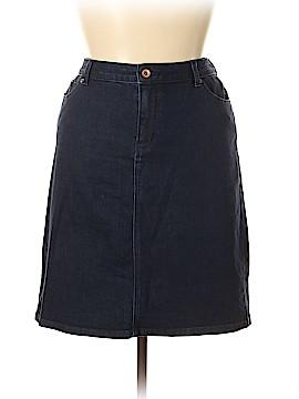Lands' End Denim Skirt Size 16
