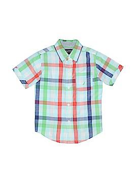 Nautica Short Sleeve Button-Down Shirt Size L (Kids)