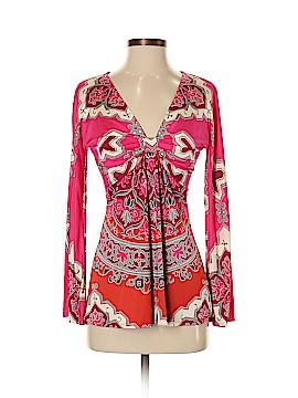 Hale Bob Long Sleeve Silk Top Size XS