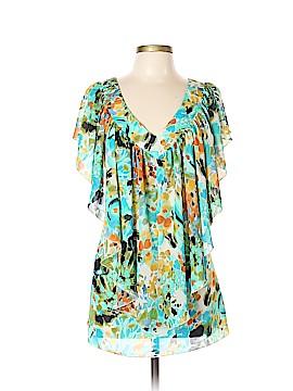 Hayley Matthews Short Sleeve Blouse Size L