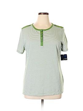 Basic Editions Short Sleeve Henley Size XL