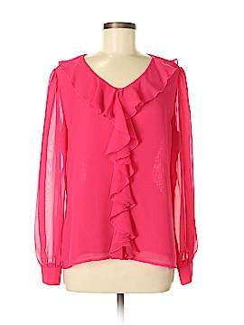 IMAN Long Sleeve Blouse Size M