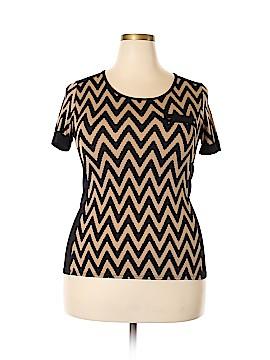 Carol Rose Short Sleeve Blouse Size L