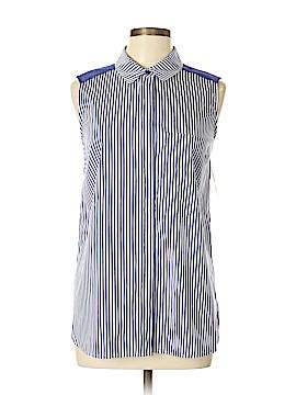 Halogen Sleeveless Button-Down Shirt Size M