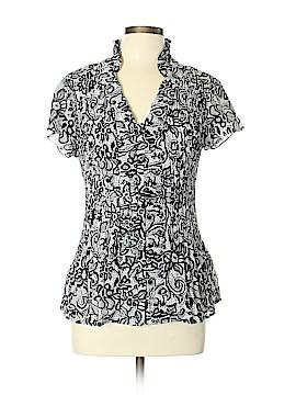 Signature by Larry Levine Short Sleeve Blouse Size XL