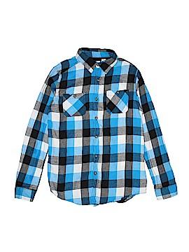 Ruff Hewn Long Sleeve Button-Down Shirt Size 14 - 16