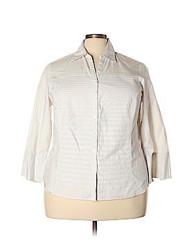 Zac & Rachel Long Sleeve Button-Down Shirt Size 3X (Plus)