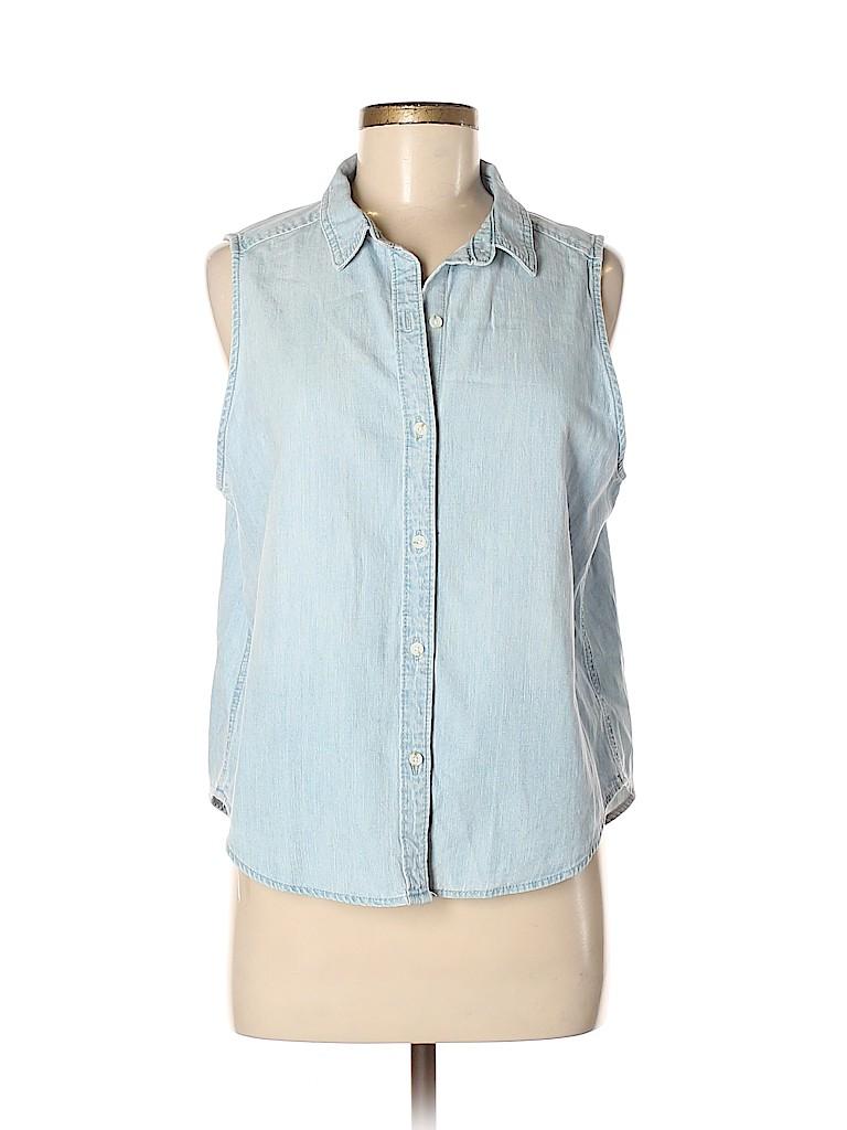 b6282a11c Pin it Pin It Button Universal Thread Women Sleeveless Button-Down Shirt  Size M