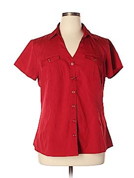Cato Short Sleeve Button-Down Shirt Size XL
