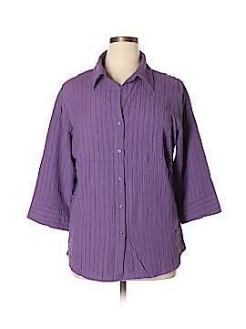 Great Northwest 3/4 Sleeve Button-Down Shirt Size 1X (Plus)