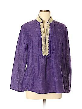 Reba Long Sleeve Silk Top Size XL
