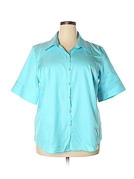 Liz Claiborne Short Sleeve Button-Down Shirt Size 18W (Plus)