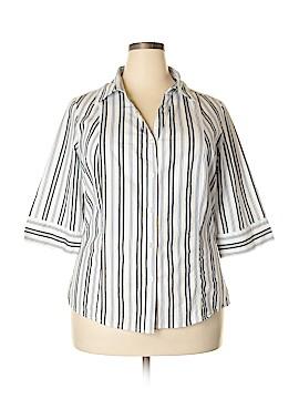 Bobbie Brooks 3/4 Sleeve Button-Down Shirt Size 1X (Plus)
