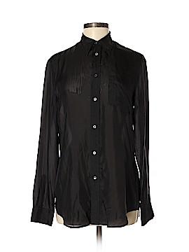 Ralph by Ralph Lauren Long Sleeve Silk Top Size 8