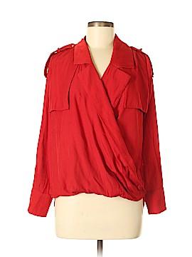 Line & Dot Long Sleeve Blouse Size XS